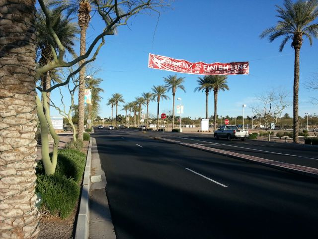 Phoenix finish line