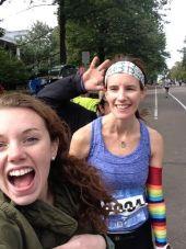 TCM race selfie with meg